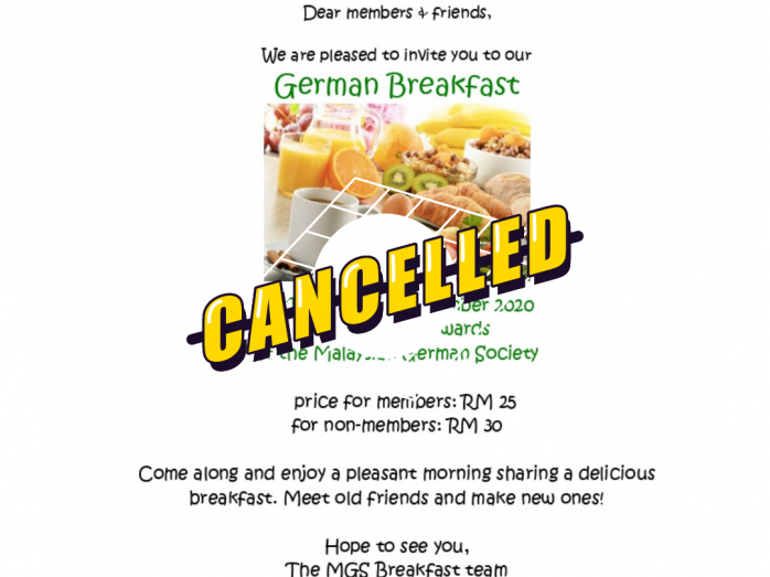 Nov - cancelled - german breakfast