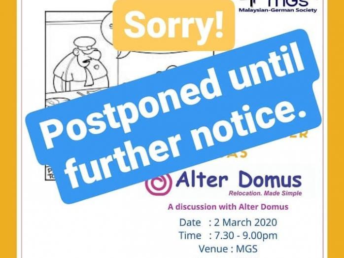 Alterdomus postponed
