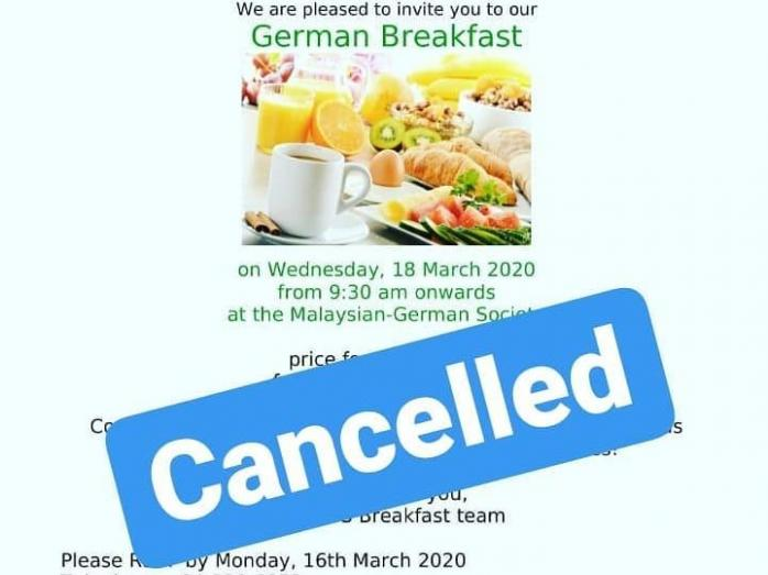 Breakfast cancelled