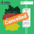 Daad talk cancelled