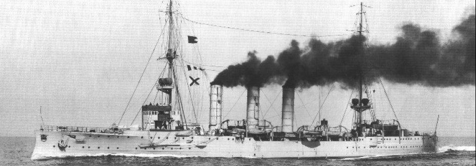 34. german light cruiser sms emden.