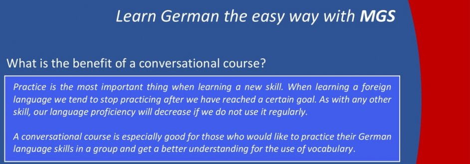Conversation course ad new2